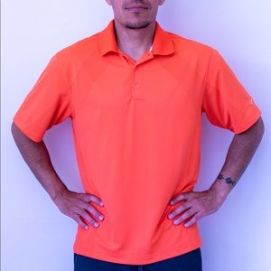 Nike Gold Shirt | Dry-fit polo | Nike men's medium